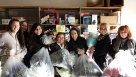TMG's Corporate HR and Accounting team donating to a clothing drive