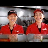 Employees greet customers with a great big smile.