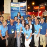 In front of Cvent tradeshow booth, one of many hundreds Cvent team attends.