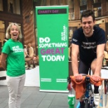 Raising money for Macmillan on Global Charity Day