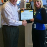 Winning award from Director of Sales at AT&T