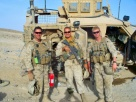 Smiling at life when evil just took a shot (IED) at us. 1/2 Bravo Co. 3 Plt.