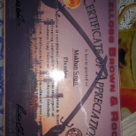 KBR photo: Actually this is certificate of appreciation from KBR company regarding my work