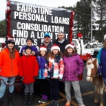 Fairstone employees got into the Ho-Ho-Holiday spirit at the Santa Claus Parade in Lindsay, Ontario.