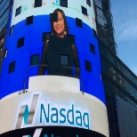 Chicago #vistage member Maria Kim helps rings the bell at #NASDAQ for #chicagoinnovationaward