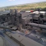 The cement plant