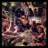 On a C-130 ready to jump