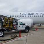 Fueling Cayman's first 737 MAX 8 VP-CIW on its first arrival to TPA