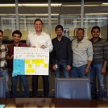 UBS AMP Team. I am second from left in check shirt. Awesome team of developer, and tester.