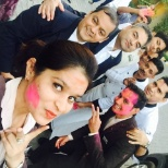 Fun at work Holi celebration