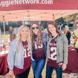 Reynolds associates at a Texas A&M tailgate.