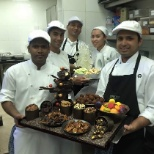 Christmas menu in reflet pastry team