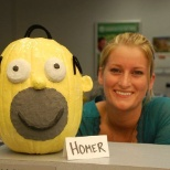 Employee pumpkin decorating contest.
