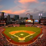 Delaware North photo: Play ball! Busch Stadium at Sunset!