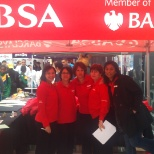 At an Absa/Barclays event at the Cape Town station