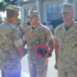 U.S. Marine Corps photo: Purple Heart Ceremony 1st Combat Engineer Battalion 1st Marine Division