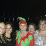 Regional Reporting, Inc. photo: From left my office man, me, our gen man(the elf) lana and kim all the ladies in the office!