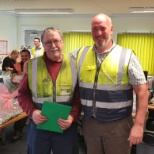 Kingsland Drinks photo: Trevor Parkinson retired on Monday 24th June after 49 years service!