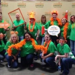 Associated Bank photo: Colleagues having fun and supporting Feeding America!