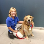 Riverside Community Hospital photo: Our furry friend, visitor, and therapy dog, Tanner!