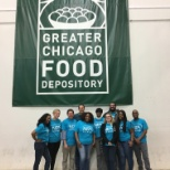 Volunterring at the Greater Chicago Food Depository