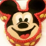 Mickey Mouse 8 in with two 5 in cake