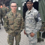 Myself and German Special Forces Solider at a demonstration