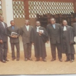 Church Service. Photograph with Pastors of the Presbyterian Church.