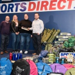 Sports Direct donated over 1,100 pieces of outdoor equipment to a Mansfield homeless charity