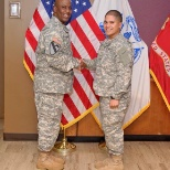 Command Sergeant Major Douglas and I during my pinning ceremony.