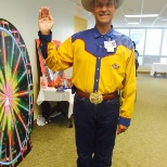 Methodist Richardson President Ken Hutchenrider Jr., gave a Big Tex welcome to their Career Fair.