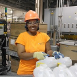 Working on the line at our Bloomfield, MO Litter Factory