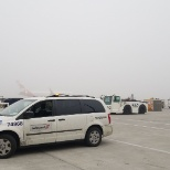 Our suppervisor van waitting aircraft arrive in terminal 1