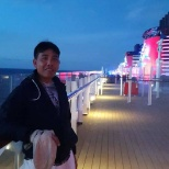 At caribian sea