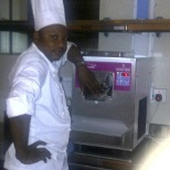 At work, Pastry chef