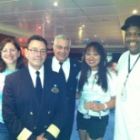 Crew Celebration with Hotel Director, F&B Director and Sous Chef and co waitress