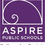 Aspire Public Schools photo: 15 Years of Excellence
