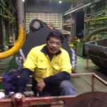 Last week during excavator and bucket repairing
