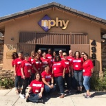 CSAA Insurance Group photo: Employees from the Las Vegas volunteered at the Nevada Partnership for Homeless Youth.