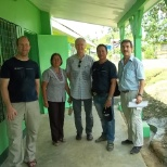 The Swiss team, the teacher, and me in Matag ob leyte