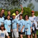 Teradata employees participate in the Cinco de Mayo Trail Run.