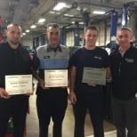 Congratulating some of our Top employees for achieving the Master Technician level