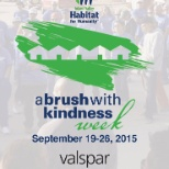 Valspar is the national paint sponsor for Habitat for Humanity.