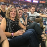 Interns at the annual Yankee game