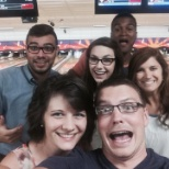 SLINGSHOT photo: Crazy bowling team night!.... none of us were very good.