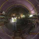 During tunnel inspection.