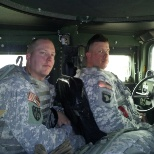 I am the First Sergeant driving my Commander on the left.