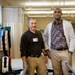 The New Jewish Home photo: Jose and Leon from our Westchester rehab team, on Employee Appreciation Day.
