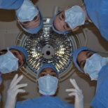 A selfie from our surgeons to show their perspective and the perspective of a patient during surgery