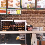 Workers at subway